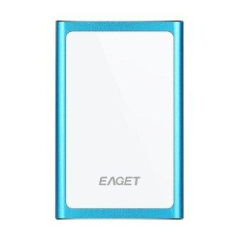 EAGET G90 Original 1T USB 3.0 High-Speed Ultra-thin Extreme Fashion Full Metal Encryption Portable External Hard Disk Drives HDD Blue