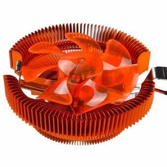 Super Mute Desktop Hydro Bearing CPU Cooling Fan for Intel LGA775/1155/1156 AMD Am2 AMD S-754/939/940 - Orange