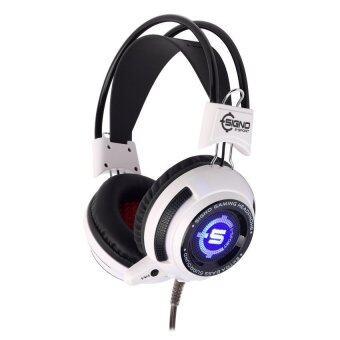 SIGNO หูฟังเกมส์มิ่ง Vibration LED รุ่น HP-806W ( สีขาว )