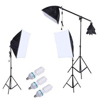 การถ่ายภาพชุดไฟหน้าที่เซ็ตด้วย 5500กิโลไบต์ 135วัตต์หลอดไฟแสงสีถ่ายรูปสะพานกระเป๋า Softbox บูธ (image 0)