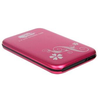 External Box 2.5 Sata For HDD.Notebook Usb 2.0 (Pink)กล่องใส่HDD (ชมพู)
