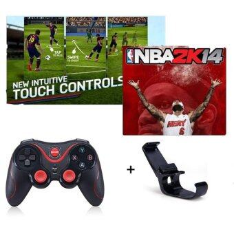 Wireless Bluetooth Gamepads Joystick Joypad S5 Gen Game For iphone Android / iOS SmartPhone Tablet PC for PS3 Game Controller Free Holder - intl