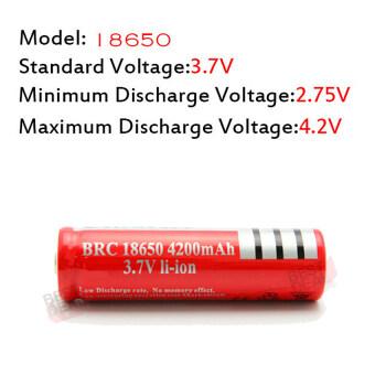 4 x UltraFire 18650 lithium battery 4800 mA Rechargeable Battery 4 ก้อน ถ่านชาร์จ ถ่านไฟฉาย แบตเตอรี่ไฟฉาย แบตเตอรี่ อเนกประสงค์ ขนาด 4800 mA รุ่น 18650-Red-B4-F2 สำหรับ ไฟฉาย, อุปกรณ์รักษาความปลอดภัย, Floodlight + แถม Li-ion Battery Universal Charger (image 2)