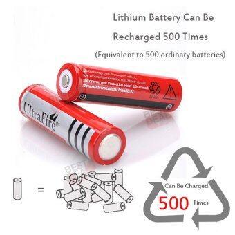 4 x UltraFire 18650 lithium battery 4800 mA Rechargeable Battery 4 ก้อน ถ่านชาร์จ ถ่านไฟฉาย แบตเตอรี่ไฟฉาย แบตเตอรี่ อเนกประสงค์ ขนาด 4800 mA รุ่น 18650-Red-B4-F2 สำหรับ ไฟฉาย, อุปกรณ์รักษาความปลอดภัย, Floodlight + แถม Li-ion Battery Universal Charger (image 4)