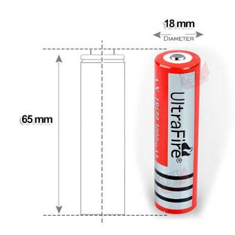 4 x UltraFire 18650 lithium battery 4800 mA Rechargeable Battery 4 ก้อน ถ่านชาร์จ ถ่านไฟฉาย แบตเตอรี่ไฟฉาย แบตเตอรี่ อเนกประสงค์ ขนาด 4800 mA รุ่น 18650-Red-B4-F2 สำหรับ ไฟฉาย, อุปกรณ์รักษาความปลอดภัย, Floodlight + แถม Li-ion Battery Universal Charger (image 1)