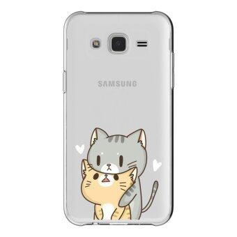 HugCase TPU เคส Samsung Galaxy J2 Prime เคสโทรศัพท์พิมพ์ลาย Cat เนื้อบาง 0.3 mm