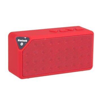 V-TECH ลำโพง Bluetooth Speaker X3 เปลี่ยนถ่านได้ - สีแดง