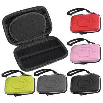 กระเป๋าเคสกันกระแทกป้องกันลำบากกระเป๋าเอนกประสงค์สำหรับ 6.35ซมฮาร์ดไดรฟ์แบบพกพาสีชมพู