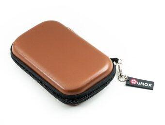 QUMOX 2.5 HDD กระเป๋าหนังสำหรับ Hard Disk Drive แบบพกพา (สีน้ำตาล)
