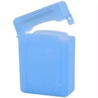 กล่องใส่ฮาร์ดดิสแบบใส ใช้ใส่ป้องกันฮาร์ดดิสขนาด 3.5 HardDisk Protection Box สีฟ้า