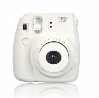 FujiFilm กล้อง Instax Mini 8 with Strap and Batteries (สีขาว)