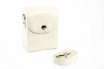 Universal Camera Leather Case For NIKON SONY CANON FUJIFILM OLYMPUS White