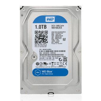 Western Digital มีนัยสีน้ำเงิน 1TB ฮาร์ดดิสก์ในฮาร์ดดิสก์ไดรฟ์บนเดสก์ท็อป 5400 อาร์พีเอ็ม SATA 6จิกะไบต์/s 64เมกะไบต์แคช 8.89ซม WD10EZRZ-ระหว่างประเทศ