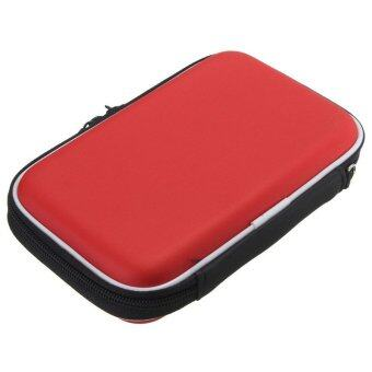 Hard Pouch Universal Shockproof Protect Case Bag For 2.5'' Portable Hard Drive Red
