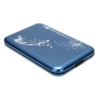 "WiseBuy Blue USB 2.0 2.5"" SATA HDD Hard Drive Disk Flower Case Box Enclosure External"