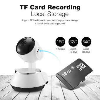 Hot Selling Wireless Home Security WiFi USB Baby Monitor Alarm IP Camera HD 720P Audio Infrarde HD Night Vision (image 2)