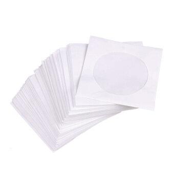 Mini 95Pcs Protective White Paper CD DVD Disc Storage Bag Envelopes Flap