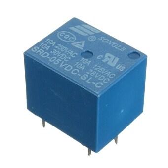 Mini 5V DC Power Relay SRD-5VDC-SL-C 5 Pin PCB Type - Intl
