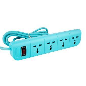 Macnus ปลั๊กต่อพ่วงไฟฟ้า 3 เมตร 4 ช่อง - สีฟ้า