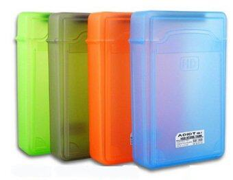"Plastic Hard Disk Protective Case with Label *4 BOX 3.5"" (Gray,Green, Red , Cyan)"