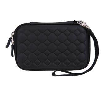 Football Pattern Hard EVA PU Carrying Case or 2.5 inch Portable HDD (Black) - intl
