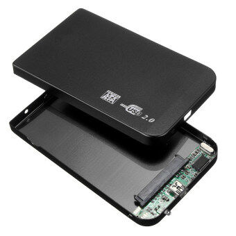 "HAOFEI 2.5"" USB 2.0 3.0 SATA External HD HDD Hard Disk Drive Enclosure Case BOX Drawer Black"