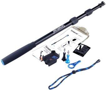 GoPro Smatree SmaPole S2 All-aluminum Gopro Handheld Pole integrated with a Tripod Mount (16″to 40″ Extension) + Smatree Protective ClipCase ( for WiFi Remote Controller for GoPro Hero 1 2 3 3+4 )