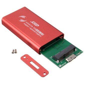 4.57ซม mSATA USB 3.0 ตัวแปลงที่ดินนอกกล่องแคดดี้ window xp ไดร์ฟอิงสถานะแบบทึบเคส Win 7 8 สีแดง