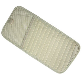 Hot Sale Car Accessories Leather CD Holder Sun Visor Car CD Multi-functional Car CD Bags - Beige 1 pcs/Lot
