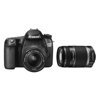 Canon EOS 70D (Black) with 18-55mm STM + 55-250mm IS II Twin Lens Kit