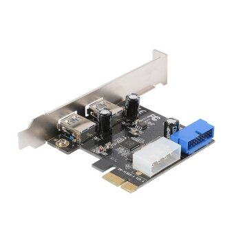 Desktop PCI-E to USB 3.0 Expansion Card With Interface USB 3.0 Dual Ports 20-pin Front Connector For Windows XP / Vista / 7 / 8 / 10