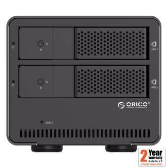 "Orico 9528U3 3.5"" 2 Bays USB 3.0 Enclosure 0TB สีดำ"