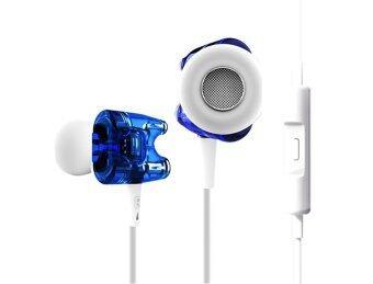 TTPOD หูฟังมีไมค์ T1S รองรับ iPhone / Android - สีฟ้าใส
