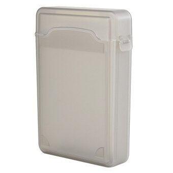 Vococal Hard Drive Storage Box Plastic Protective Case (Grey)