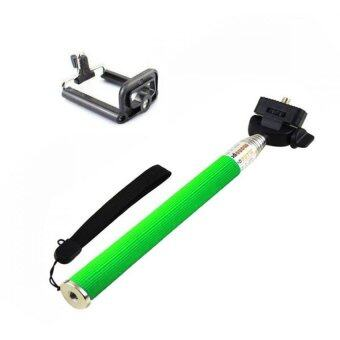 Monopod Selfie Z07-1 สีเขียว
