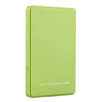 """Leegoal 2.5 Inch USB 2.0 Hard Drive Disk HDD External Enclosure Case for 9.5mm 7mm 2.5"""" SATA HDD and SSD, Tool-free (Green) - intl"""