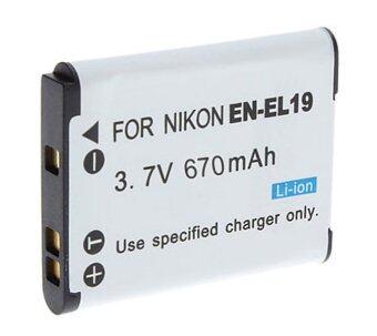 แบตเตอรี่กล้อง รหัส EN-EL19 ENEL19 แบตกล้องนิคอน Nikon Coolpix S100 , S2500 , S2550 , S2600 , S2700 , S3100 , S3300 , S3500 .. Replacement Battery for Nikon