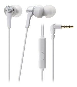 Audio Technica Sound Reality Earphones-Push-Pull Driver W/remote and Microphone for iphone& Smartphone รุ่น ATH-CKR3iS WH (White)