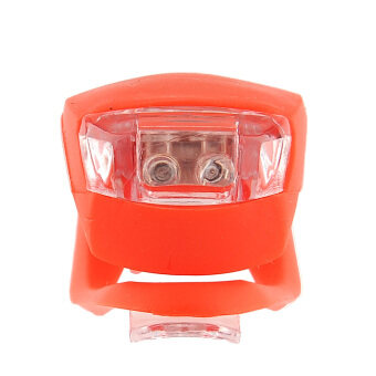 Aukey Silicone LED Bike Light Bicycle Head Lamp (Red)