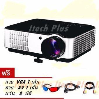 Itech Led โปรเจคเตอร์ HD 2800 Lumens ALL In One รุ่น RD806 - Black (เเถมฟรี เเว่น 3 มิติ)