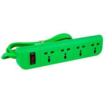 Macnus ปลั๊กต่อพ่วงไฟฟ้า 3 เมตร 4 ช่อง - สีเขียว