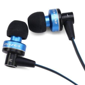 Awei ES - 90vi Cable Earphone 1.2m with Mic Volume Control for iPhone 6 / 6 Plus iPhone 5 iPad iPod (Blue)