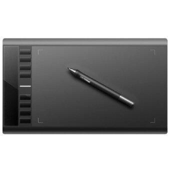 Thaivasion เมาส์ปากกาพกพาขนาด 10 x 6 นิ้ว รุ่น HK708S สำหรับนักกราฟฟิกดีไซน์ - Black
