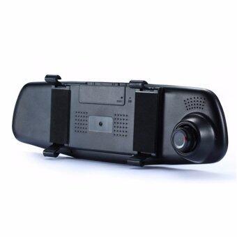 กล้องติดรถยนต์ กระจกกล้องหน้าหลัง รุ่น Q99