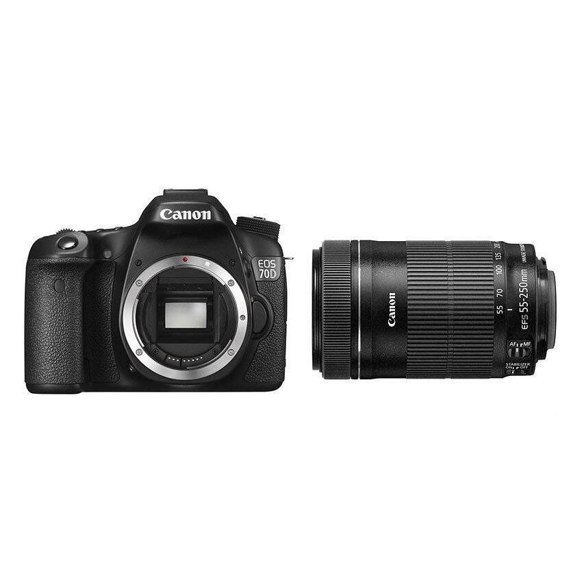 (IMPORTED) Canon EOS 70D Digital Camera Kit 55-250mm f/4-5.6 IS II Lens ...