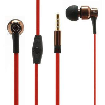 JBM-MJ8600 3.5mm Noodle Earphone with Mic for iPhone iPad Samsung HTC LG Nokia (Red / Coffee)