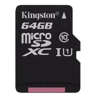 KINGSTON DIGITAL MEDIA CARD 64 GB. MICRO SD CARD KINGSTON Class 10 (SDC10G2/64GBFR)