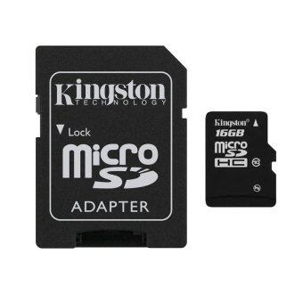 Kingston Micro SD 16GB Class10 Memory Card with Adapter (Black)