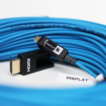 Kramer - CLS-AOCH/XL - Fiber Optic High–Speed Pluggable HDMI Cable - 50 Meter (Blue)
