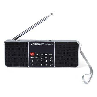 L - 288AMBT Bluetooth Wireless Speaker Support AM Radio FM Radio Function (BLACK)